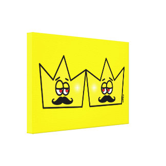 Gay King Crown King Crown Quadro Canvas Canvas Print