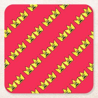 Gay King Rei Crown Coroa Square Paper Coaster