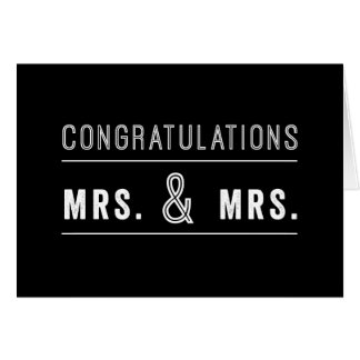 Gay Lesbian Couple Wedding Congratulations Card