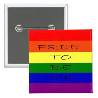 Gay, Lesbian Rainbow Buttom 15 Cm Square Badge