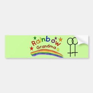 "Gay Lesbian ""Rainbow Grandma"" Bumper Sticker"