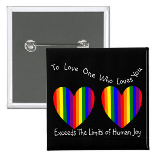 Gay/Lesbian Valentine Cards and Gifts 15 Cm Square Badge