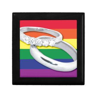 Gay Lesbian Wedding Small Square Gift Box