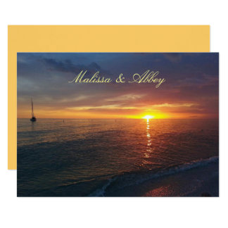 Gay Lesbian Wedding Summer Sunset Invitation
