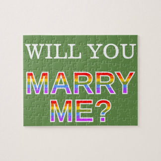 "Gay/Lesbian ""WILL YOU MARRY ME?"" Marriage Proposal Jigsaw Puzzle"