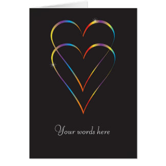 Gay love greeting card