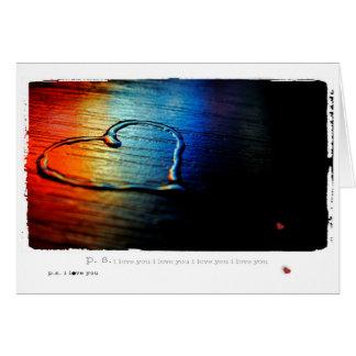 Gay Love Rainbow Card