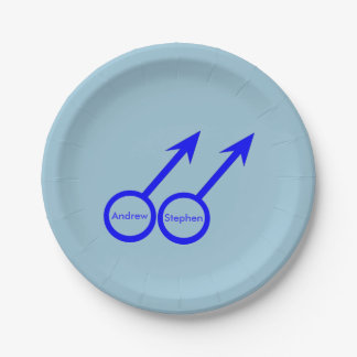 Gay Lovers Customizable Paper Party Plates