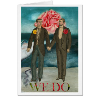 Gay Man Men Wedding Invitation Announcement Card
