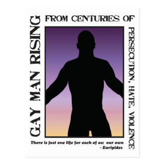 Gay Man Rising Postcard