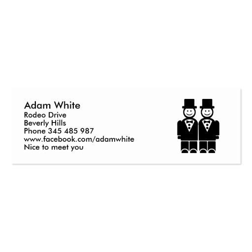 Gay Marriage Double-Sided Mini Business Cards (Pack Of 20)