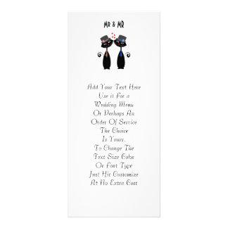 Gay Marriage Cool Cat Grooms Wedding 10 Cm X 23 Cm Rack Card