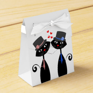 Gay Marriage Cool Cat Grooms Wedding Party Favour Box