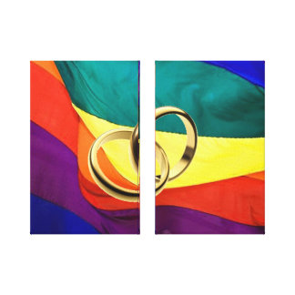 Gay Marriage on Canvas Canvas Prints