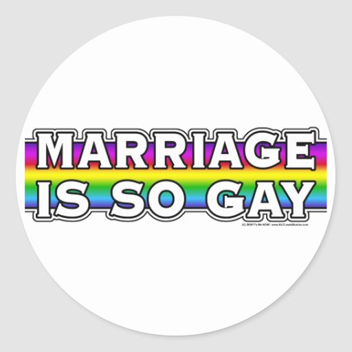 Gay Marriage Rainbow Stickers