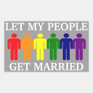 Gay Marriage Support Rectangular Sticker