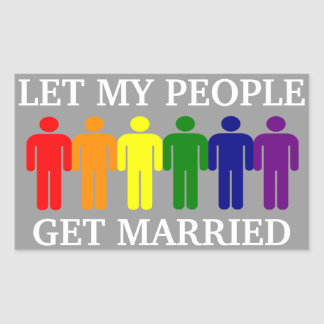 Gay Marriage Support Rectangular Stickers