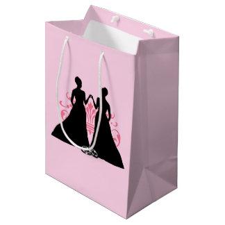 Gay Marriage Two Brides Pink Medium Gift Bag