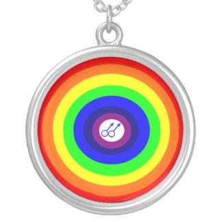 Gay Men Round Rainbow Necklace