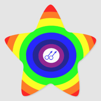 Gay Men Round Rainbow Sticker