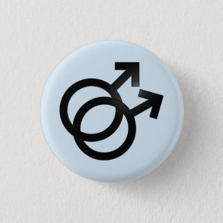 gay mlm 3 cm round badge
