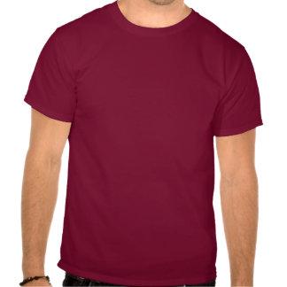 GAY OK Big Text Logo LGBT Design White On Cardinal Tee Shirt