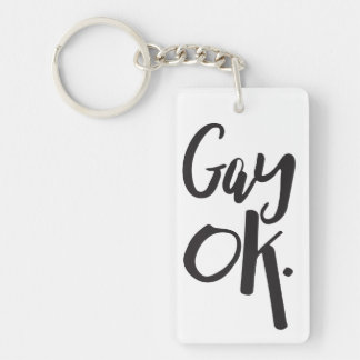 Gay Ok LGBT Pride Key Ring