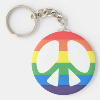 gay peace key ring