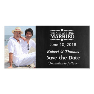 Gay Photo Save the Date Customized Photo Card