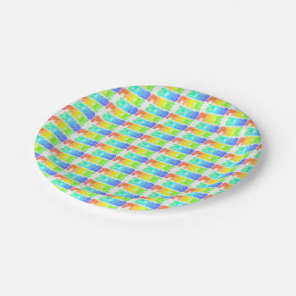 Gay Pride 2018 Rainbow Flag LGBT Typography Paper Plate