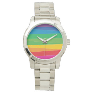 Gay Pride Abstract Rainbow Watch