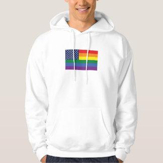 Gay Pride America Flag Hoodie