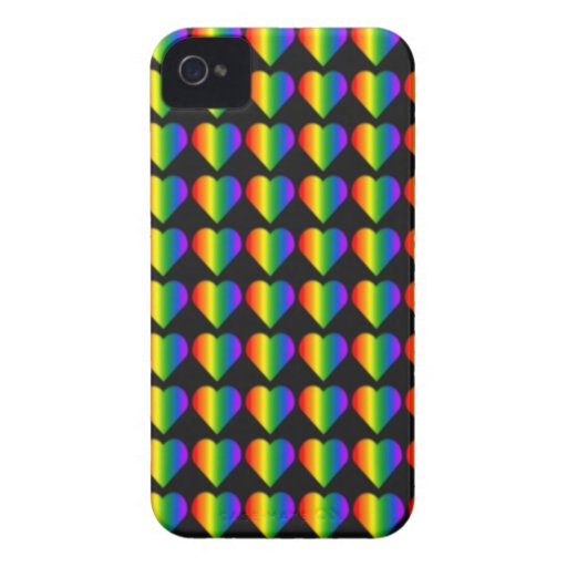 Gay Pride Blackberry Case Rainbow Love Case iPhone 4 Covers