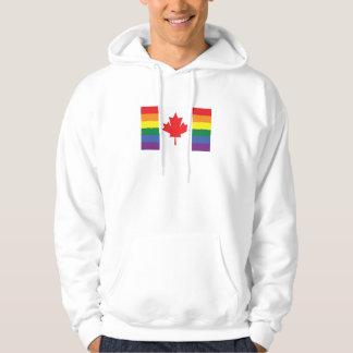 Gay Pride Canadian Flag Hoodie