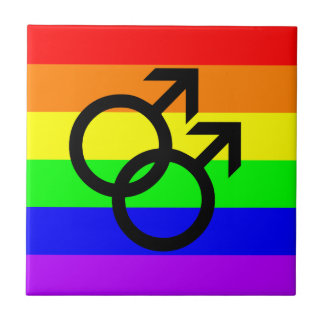 Gay Pride Ceramic Tile