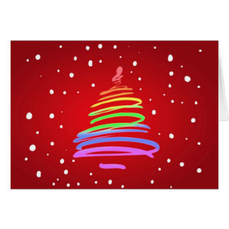 Gay Pride Christmas Tree Card