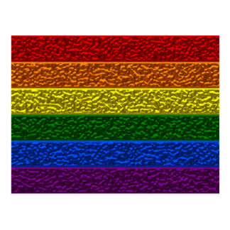 Gay Pride Chrome Flag Postcard