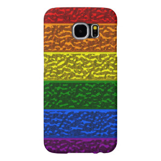 Gay Pride Chrome Flag Samsung S6 Case