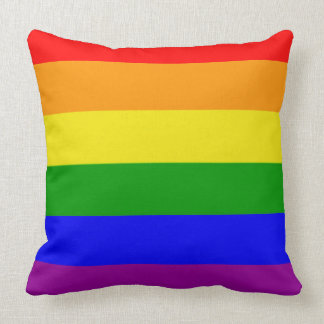 Gay Pride Colors Rainbow Flag Throw Pillows