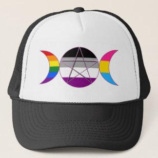 Gay Pride Demi Pan Goddess Symbol Trucker Hat
