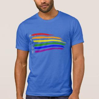 Gay Pride Distressed Waving Rainbow flag Pride T-Shirt