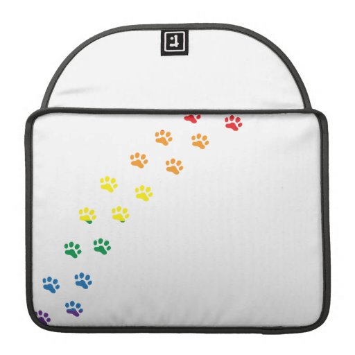 Gay Pride Doxie Flag Sleeve For MacBooks
