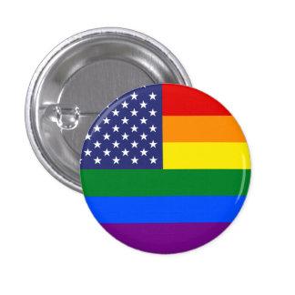 """GAY PRIDE FLAG"" 3 CM ROUND BADGE"