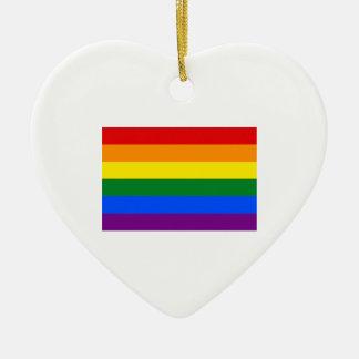 Gay Pride Flag Ceramic Ornament