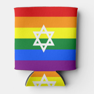Gay Pride flag of Israel Can Cooler