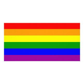 Gay Pride Flag / Rainbow Flag Custom Photo Card