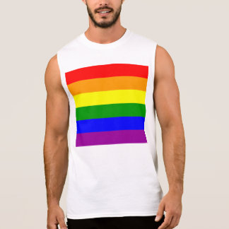 Gay Pride Flag Sleeveless Shirt