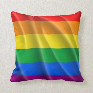 GAY PRIDE FLAG WAVY DESIGN CUSHION
