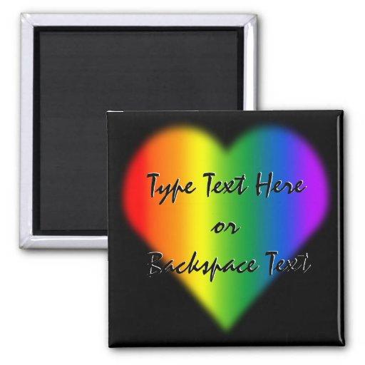 Gay Pride Fridge Magnet Custom Rainbow Love Magnet Magnet