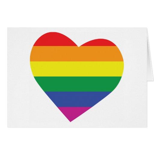 Gay Pride Heart Greeting Card